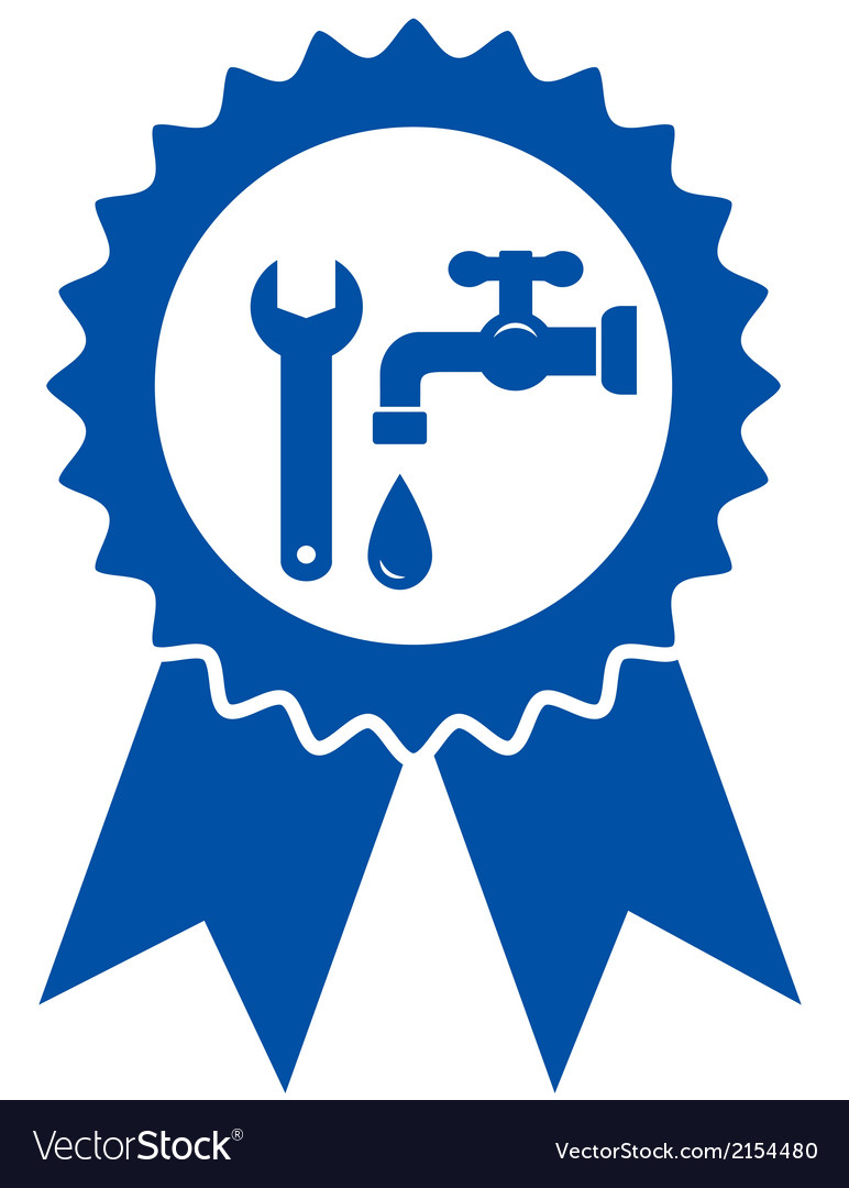 Round icon with plumbing wrench vector | Price: 1 Credit (USD $1)
