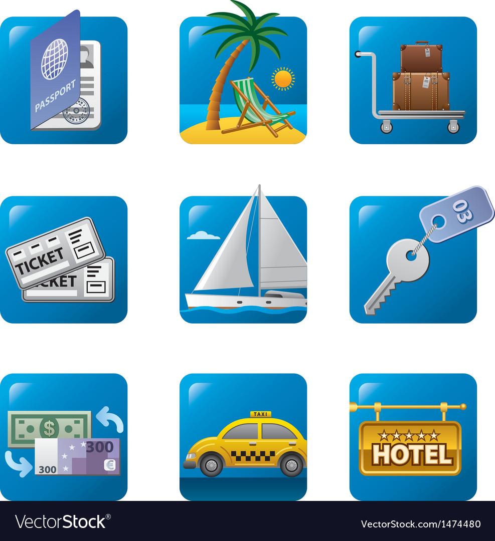 Tourism icon set2 vector | Price: 3 Credit (USD $3)