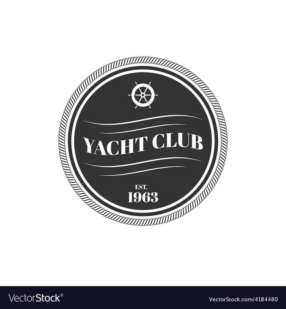 Yacht club logo vector | Price: 1 Credit (USD $1)