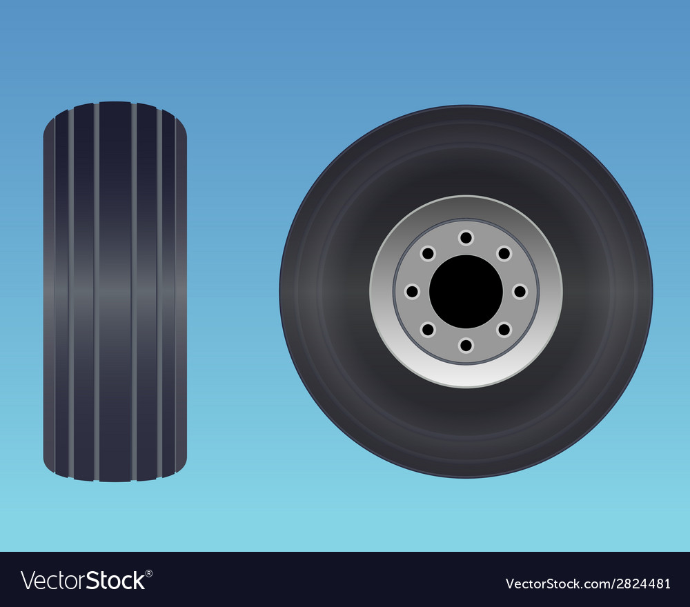 Aircraft tire vector | Price: 1 Credit (USD $1)