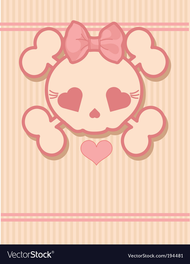 Cute skull vector | Price: 1 Credit (USD $1)