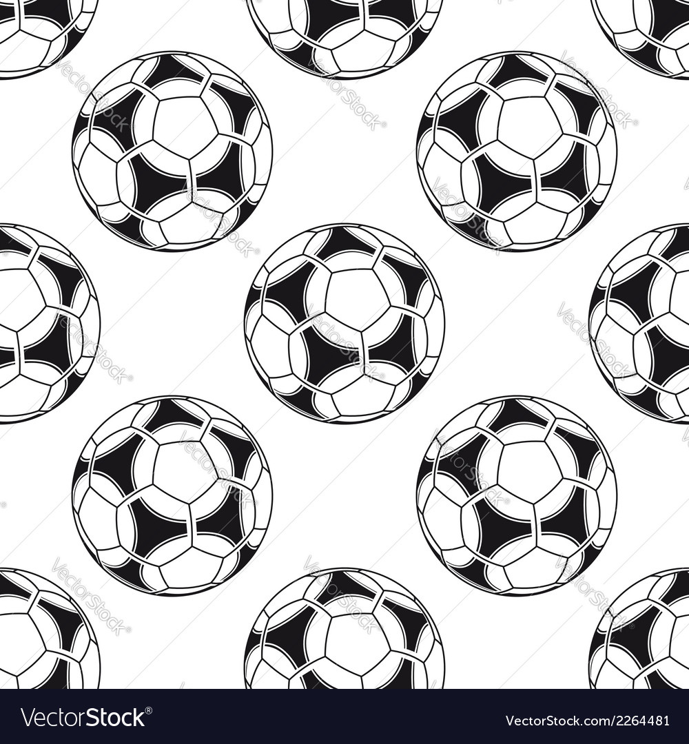 Football or soccer seamless pattern vector | Price: 1 Credit (USD $1)