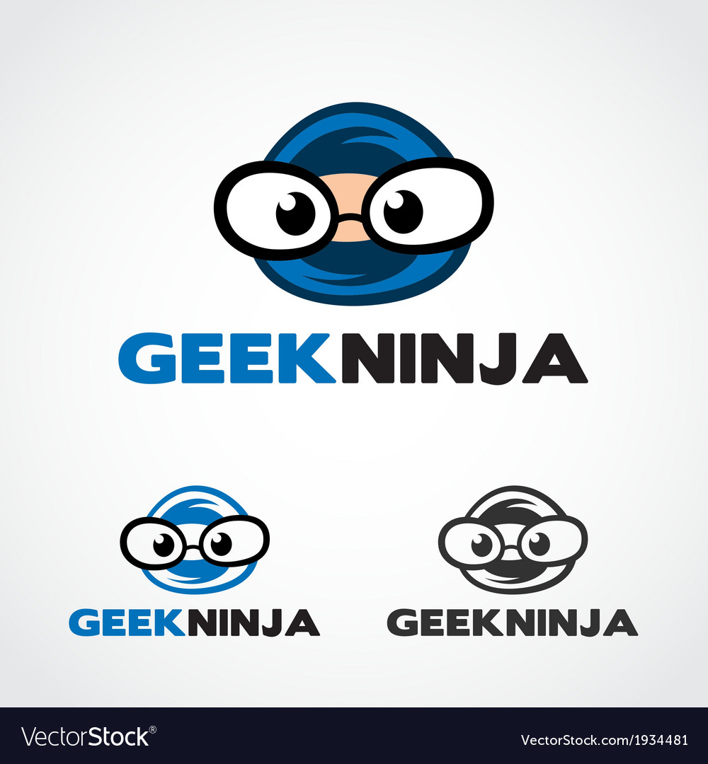 Geek ninja symbol vector | Price: 1 Credit (USD $1)