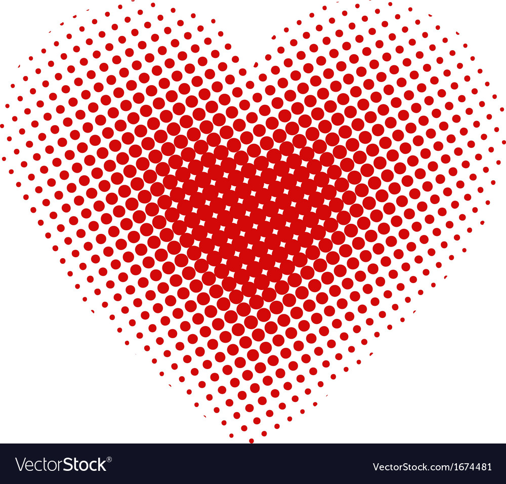 Heart halftone vector | Price: 1 Credit (USD $1)