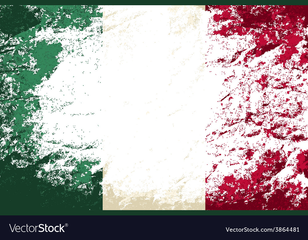 Italian flag grunge background vector | Price: 1 Credit (USD $1)