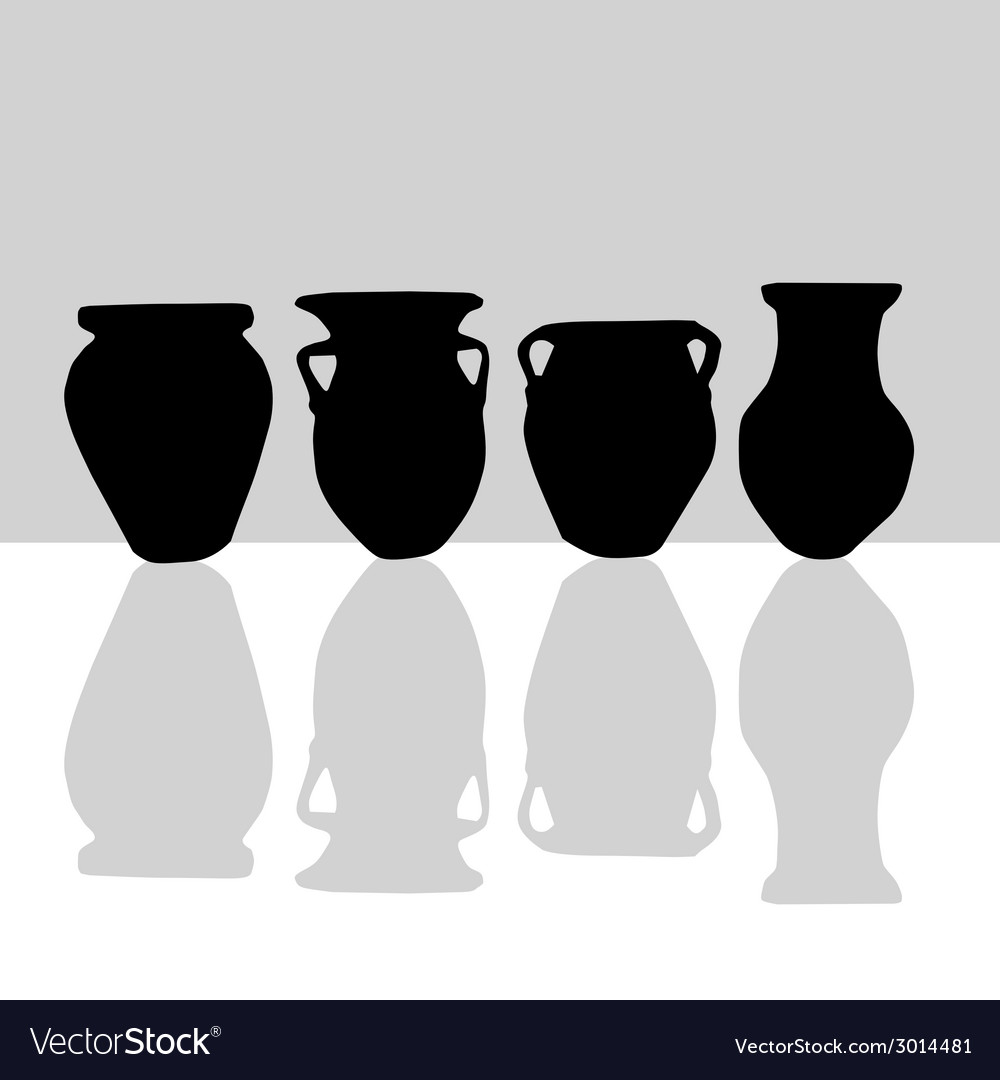 Jar black silhouette vector | Price: 1 Credit (USD $1)