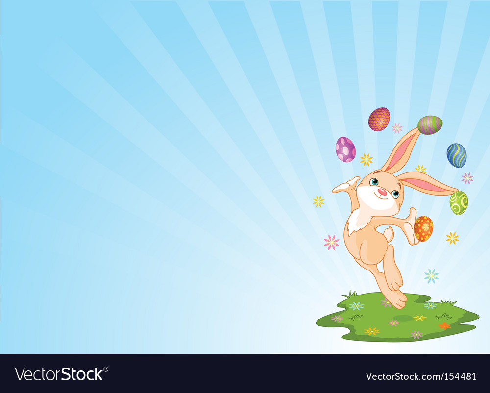 Juggling bunny vector | Price: 1 Credit (USD $1)