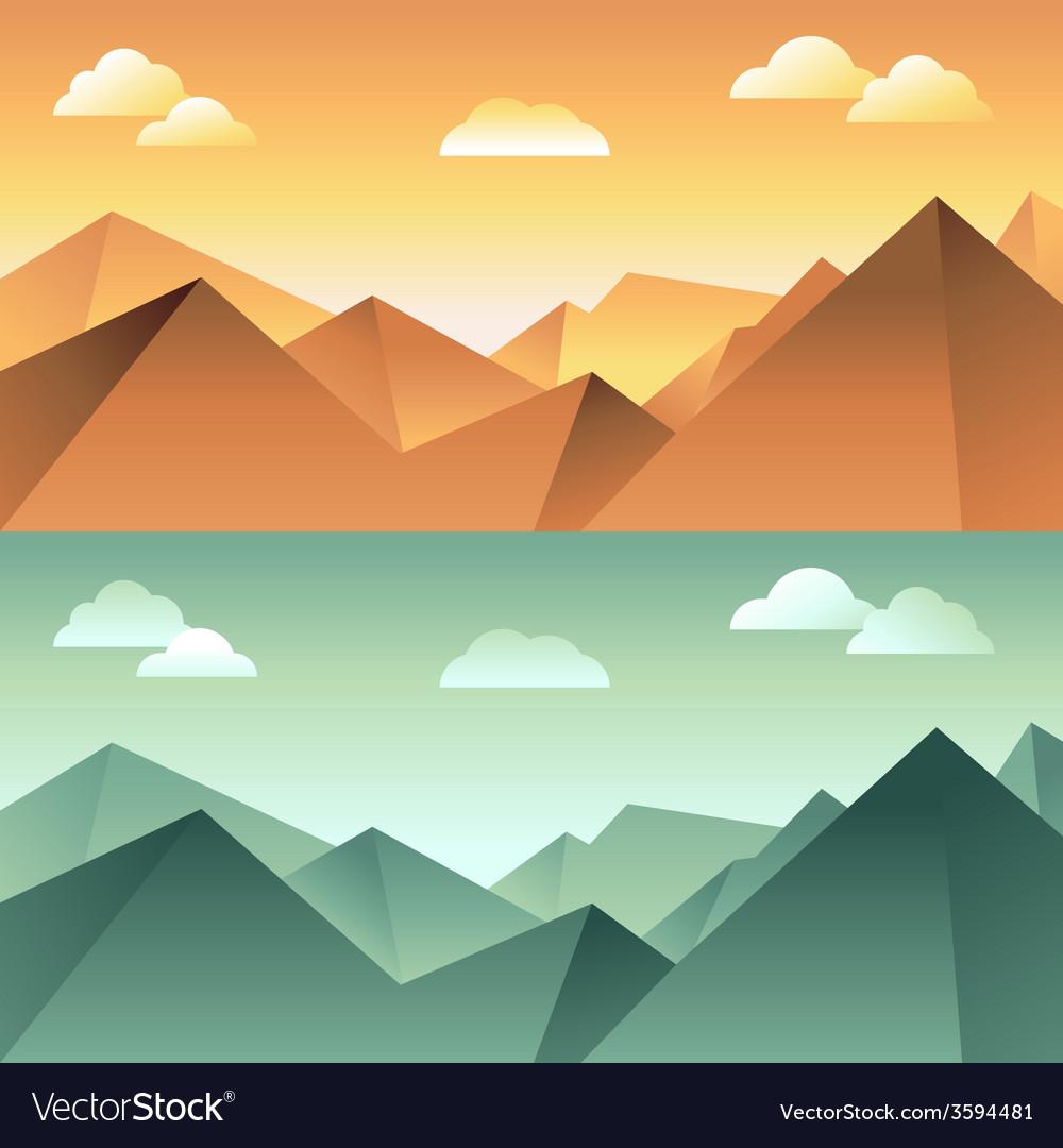 Mountain landscape vector | Price: 1 Credit (USD $1)