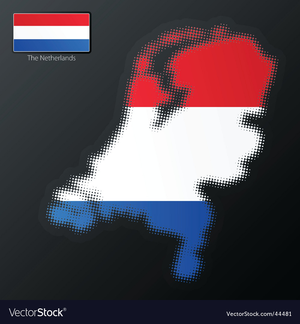 Netherlands map vector   Price: 1 Credit (USD $1)