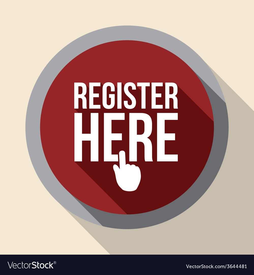 Register button design vector | Price: 1 Credit (USD $1)