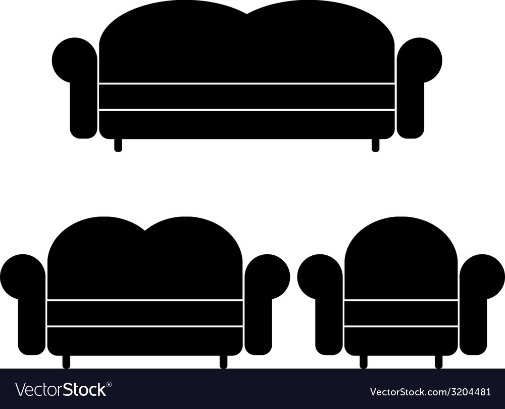 Sofas and armchair vector | Price: 1 Credit (USD $1)