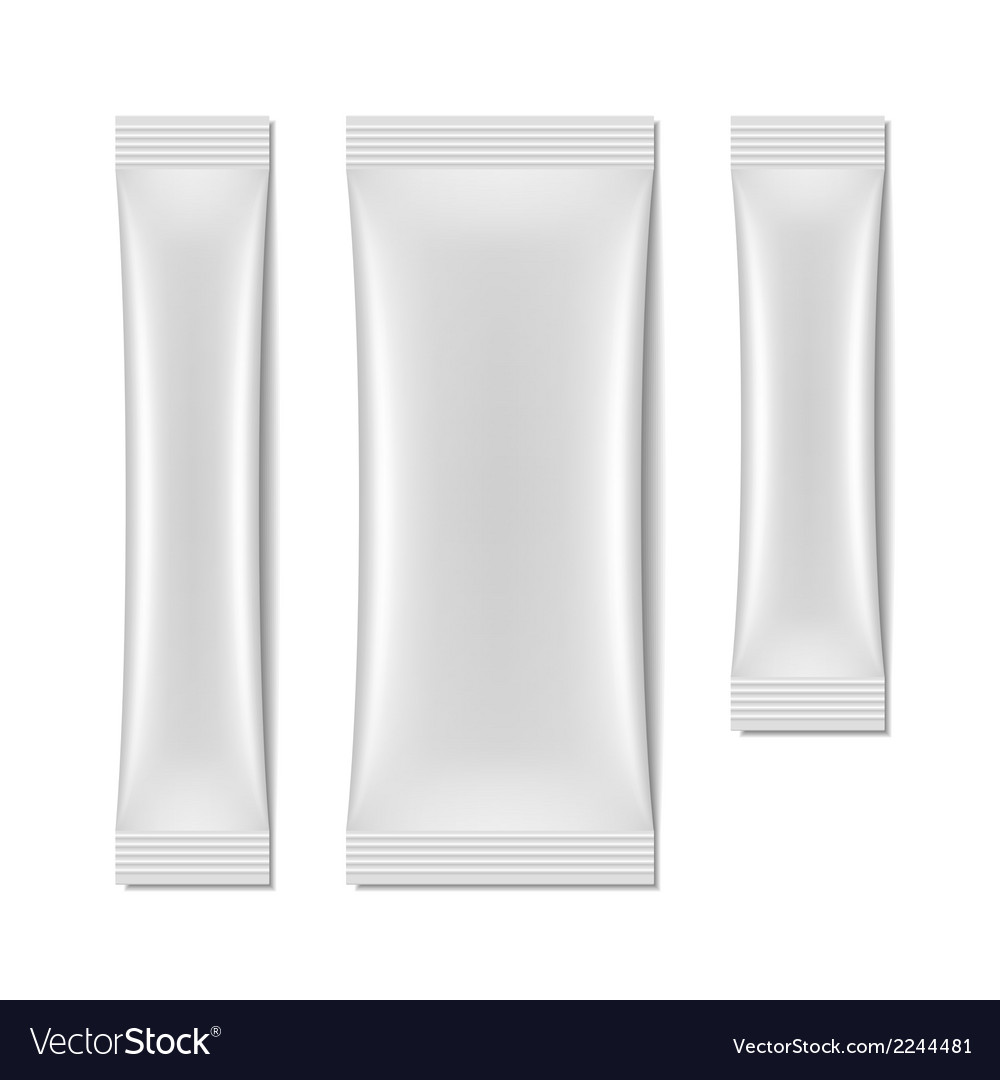 White blank sachet packaging stick pack vector | Price: 1 Credit (USD $1)