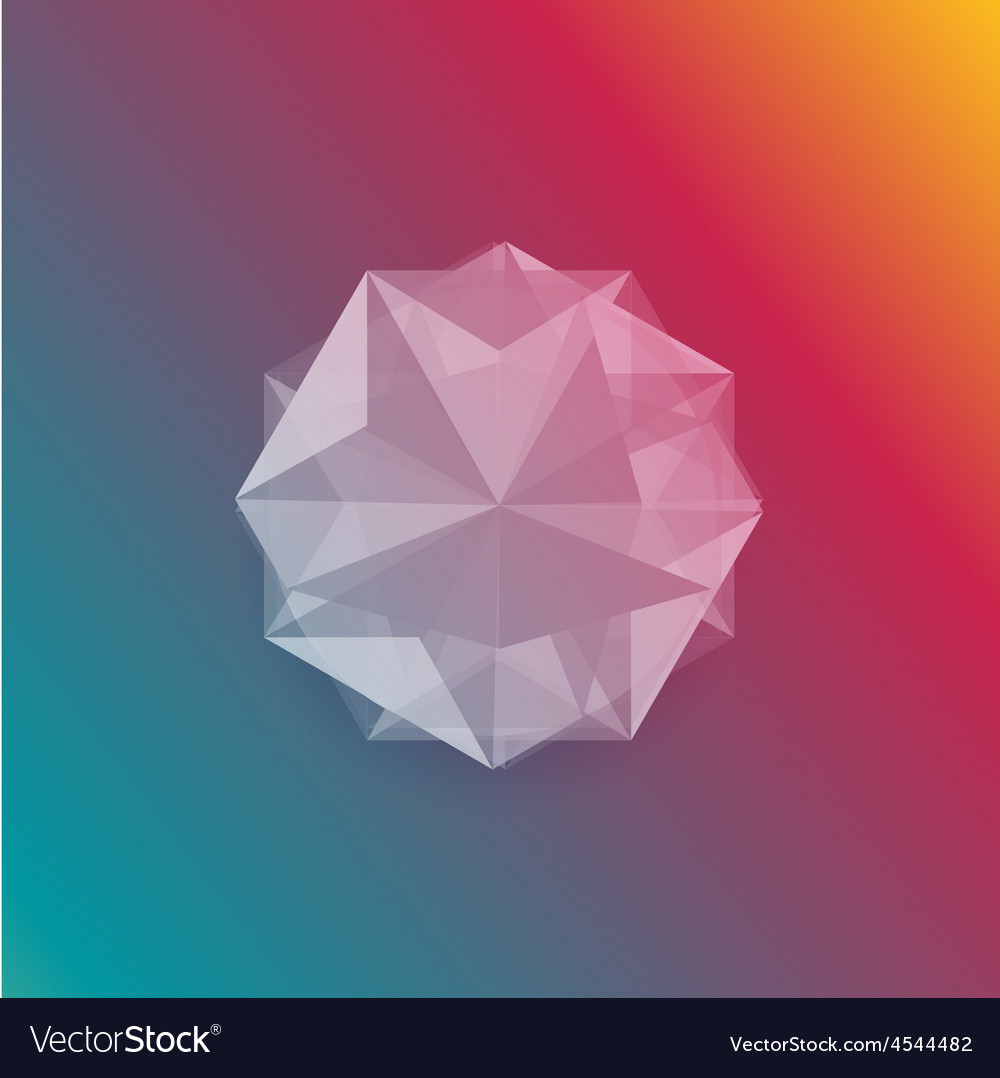 Abstract gem and white ice vector