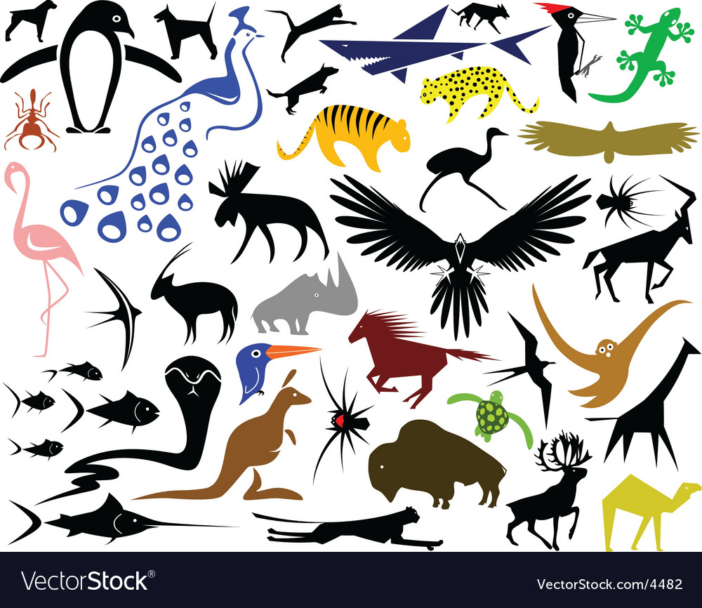 Animal designs vector | Price: 3 Credit (USD $3)