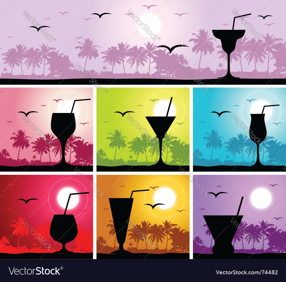 Cocktail party on the beach vector | Price: 1 Credit (USD $1)