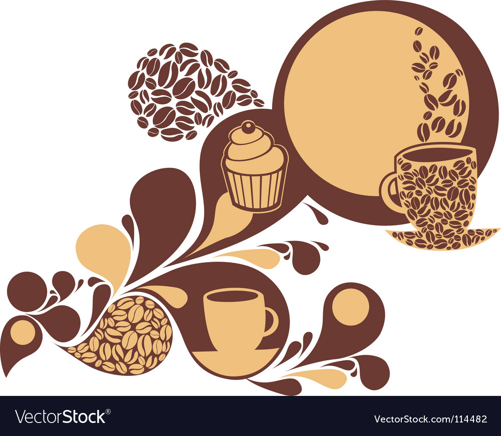 Coffee and cake vector | Price: 1 Credit (USD $1)