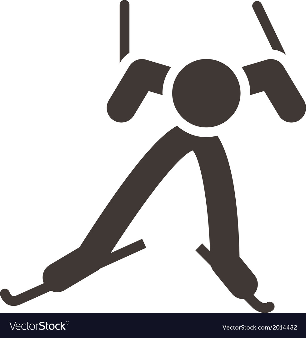 Cross country skiing icon vector   Price: 1 Credit (USD $1)