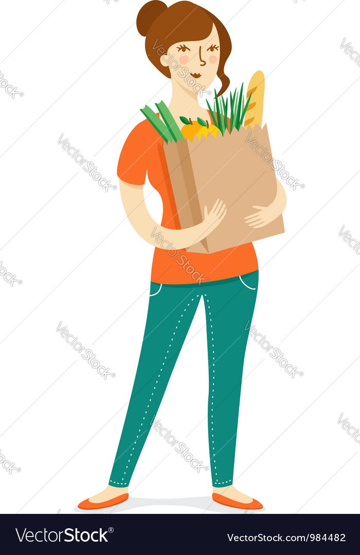 Grocery shopping vector | Price: 3 Credit (USD $3)