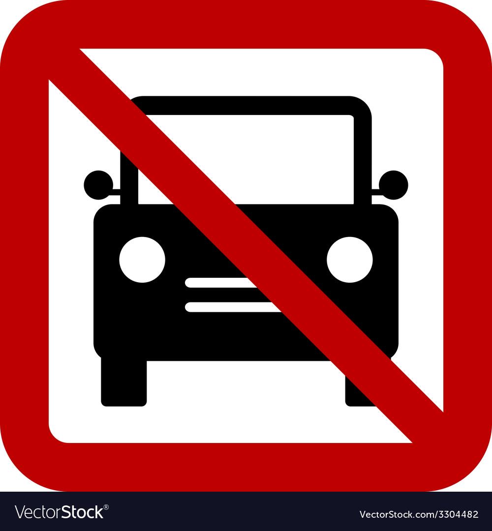 No car sign vector | Price: 1 Credit (USD $1)