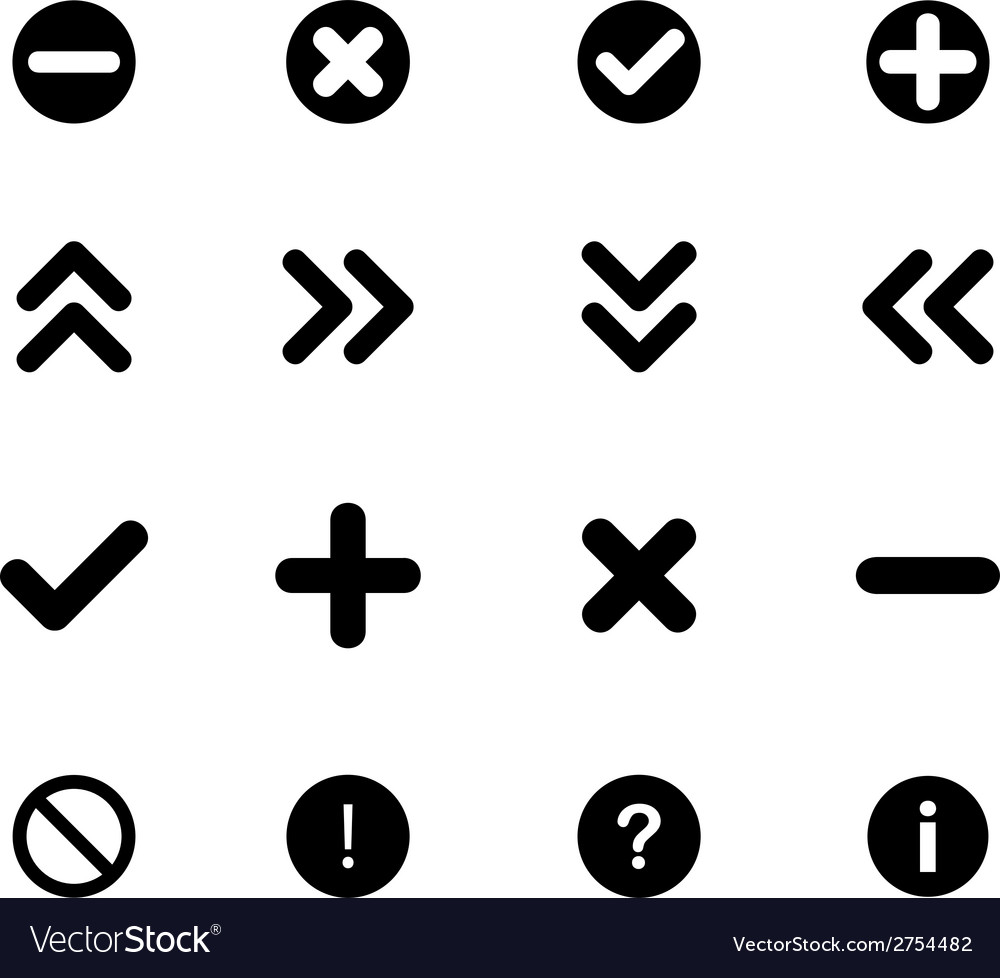 Set of flat icons - arrows and various signs vector | Price: 1 Credit (USD $1)