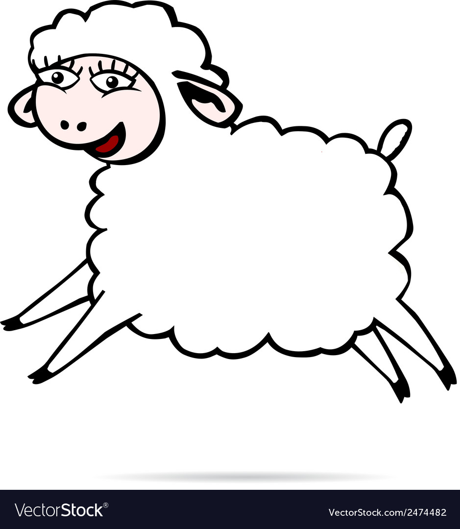 Sheep jump vector | Price: 1 Credit (USD $1)