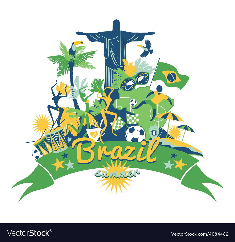 Traditional brazilian items vector   Price: 3 Credit (USD $3)