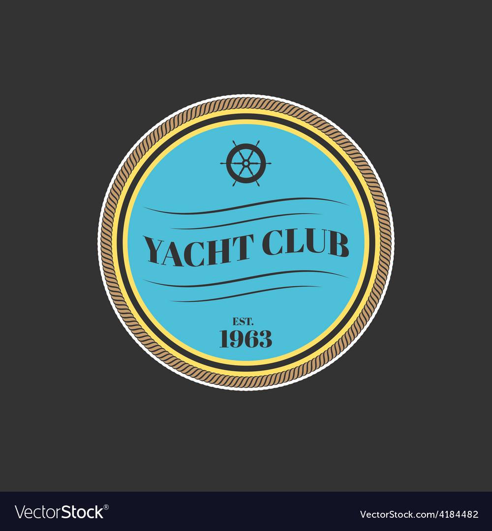 Yacht club logo vector   Price: 1 Credit (USD $1)