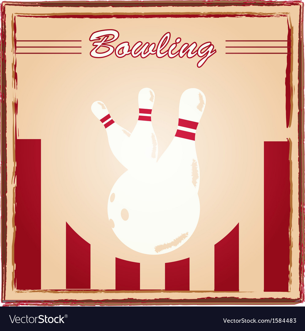 Bowling poster vector | Price: 1 Credit (USD $1)