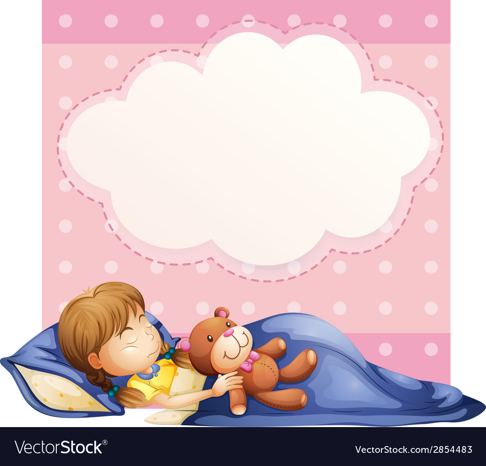 Girl sleeping vector | Price: 3 Credit (USD $3)
