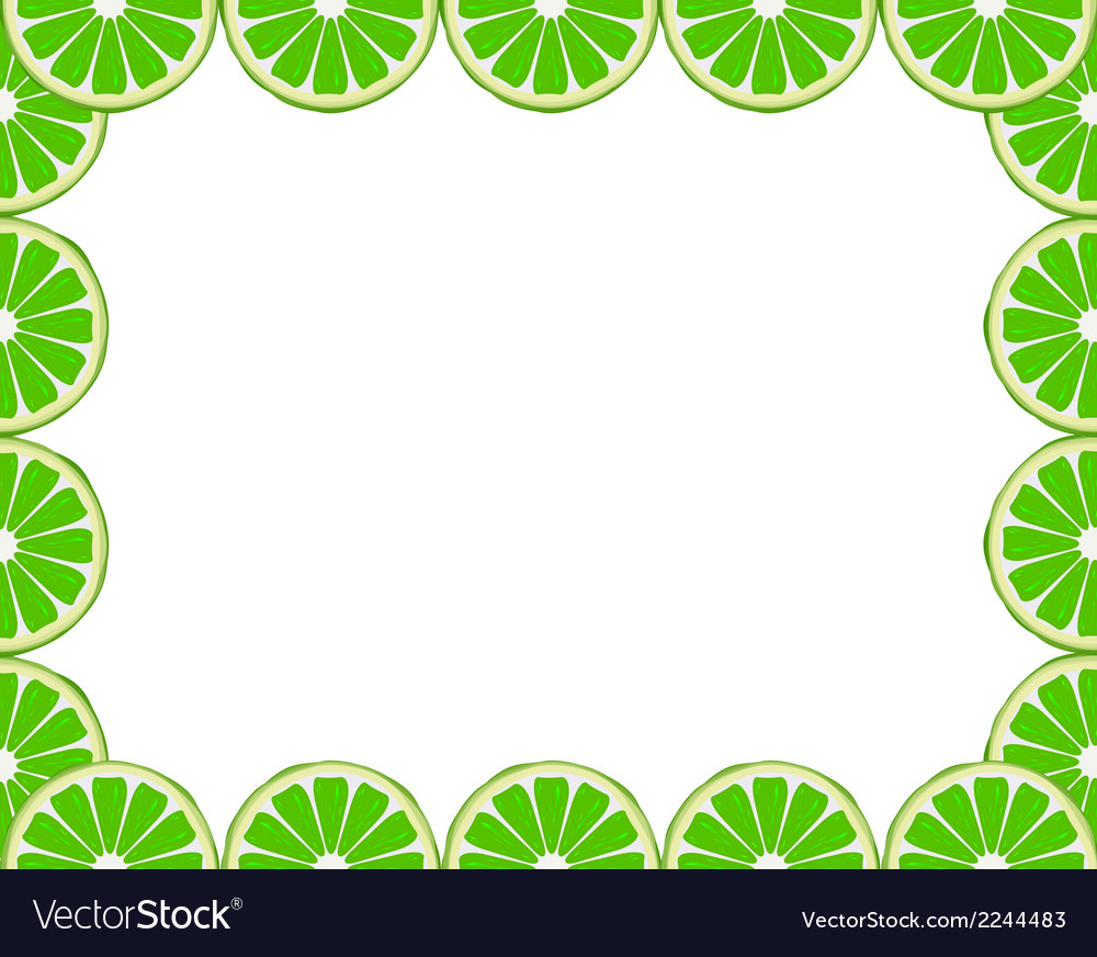 Lime frame vector | Price: 1 Credit (USD $1)