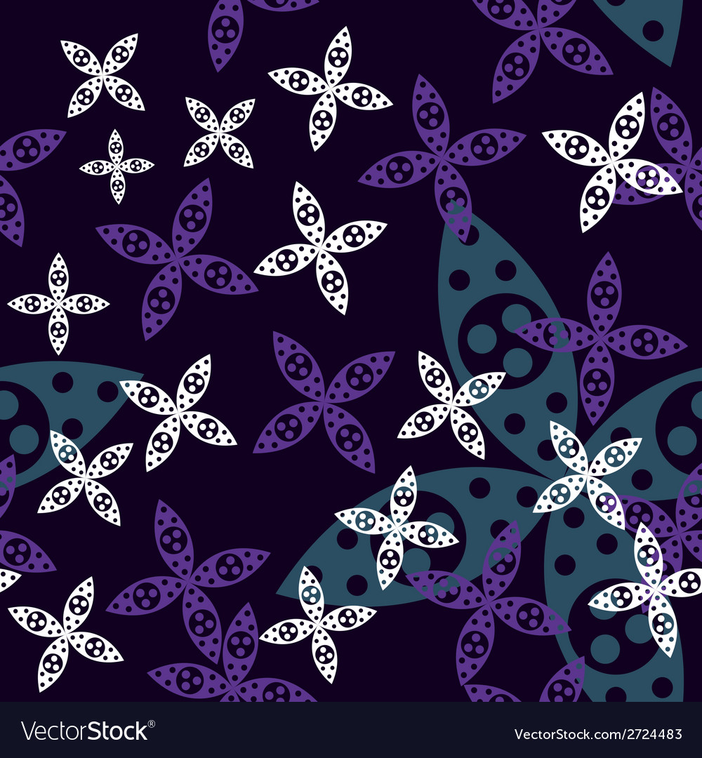 Magic flower seamless pattern vector | Price: 1 Credit (USD $1)