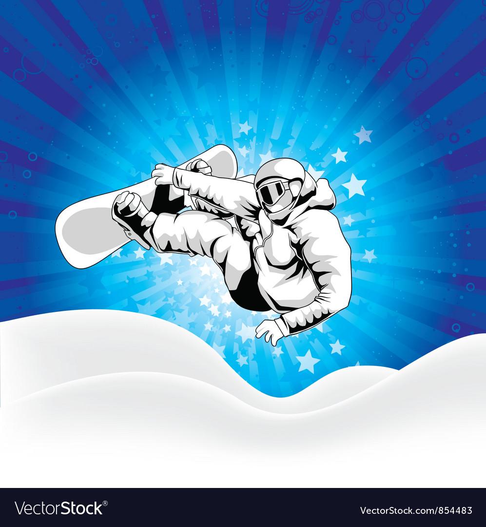 Snowboarder vector | Price: 1 Credit (USD $1)