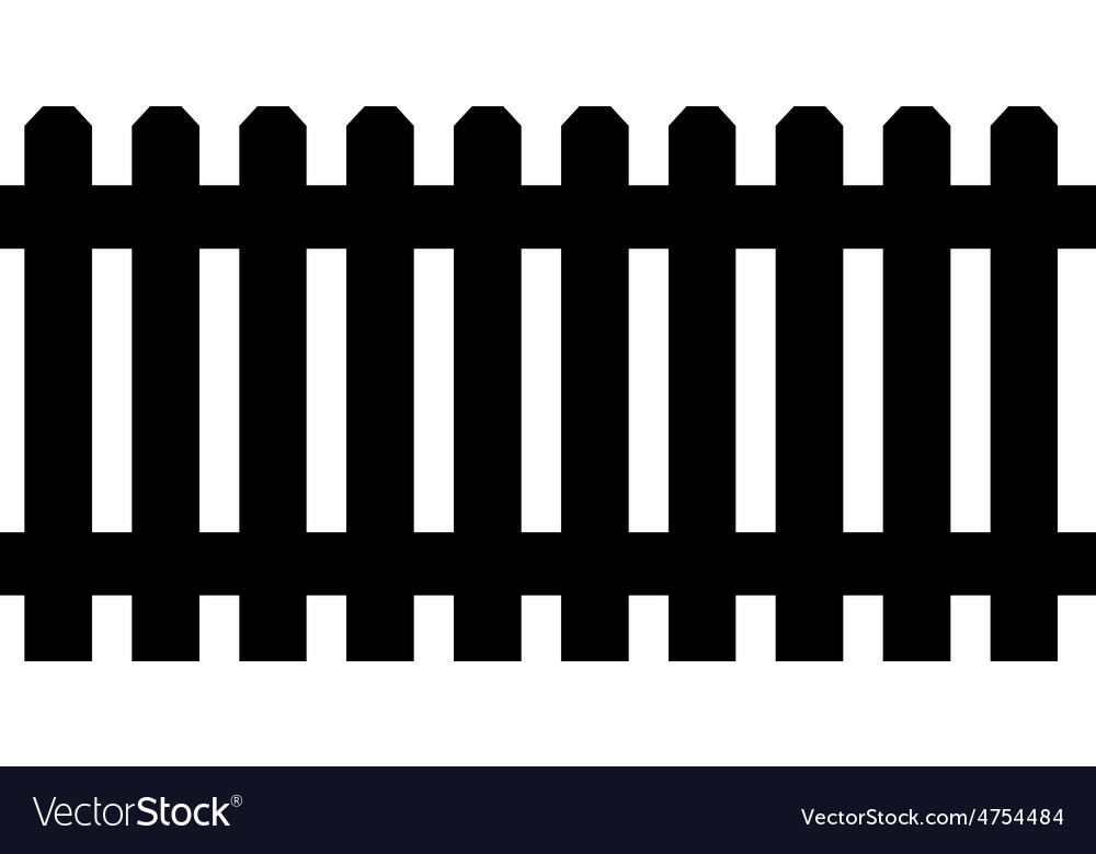 Black fence vector | Price: 1 Credit (USD $1)