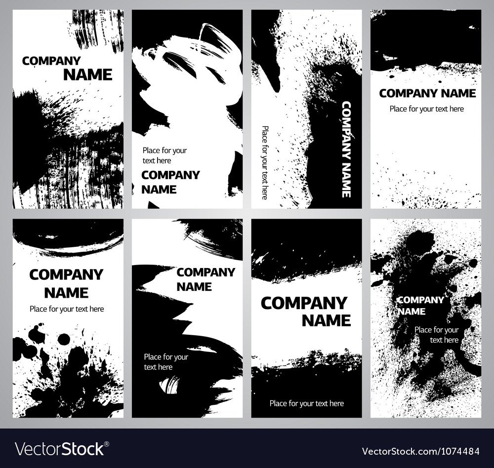 Collection vertical business grunge cards vector | Price: 1 Credit (USD $1)