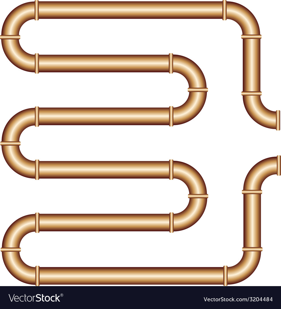 Copper pipe vector | Price: 1 Credit (USD $1)
