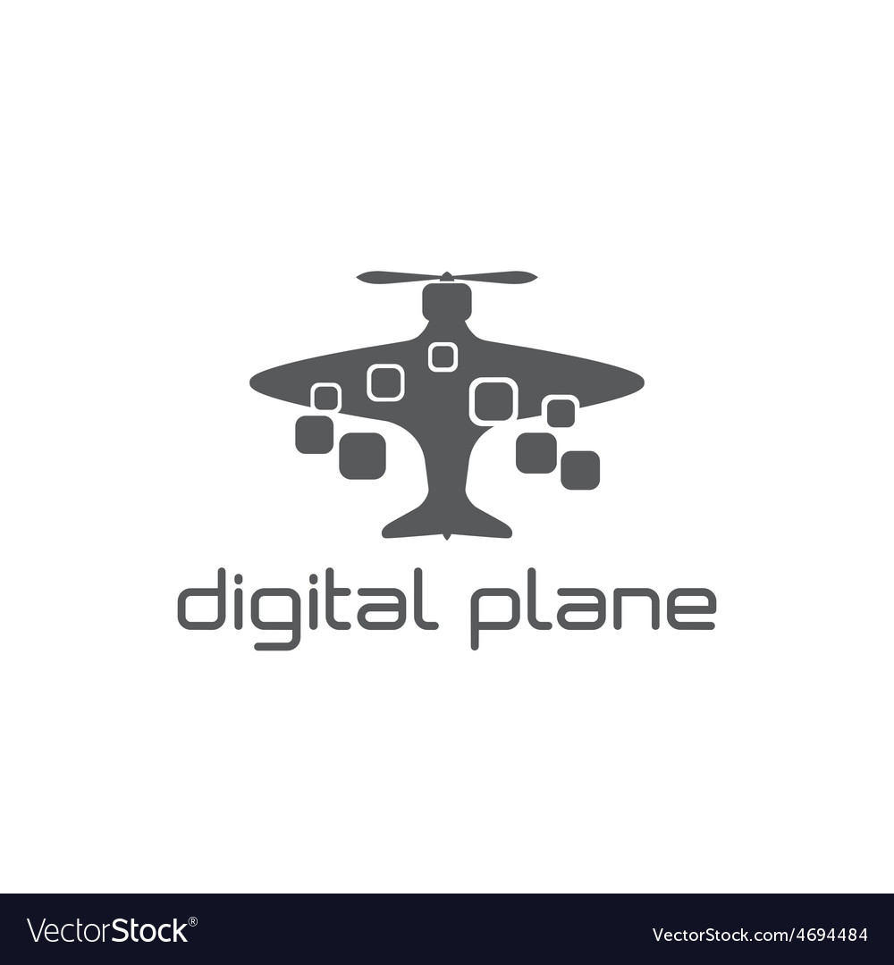 Digital plane concept design template vector | Price: 1 Credit (USD $1)