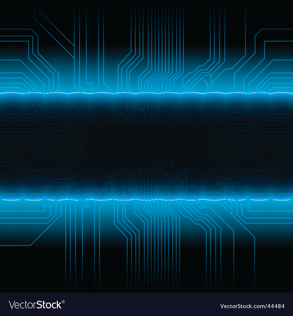 Glowing circuitry board design frame vector | Price: 1 Credit (USD $1)