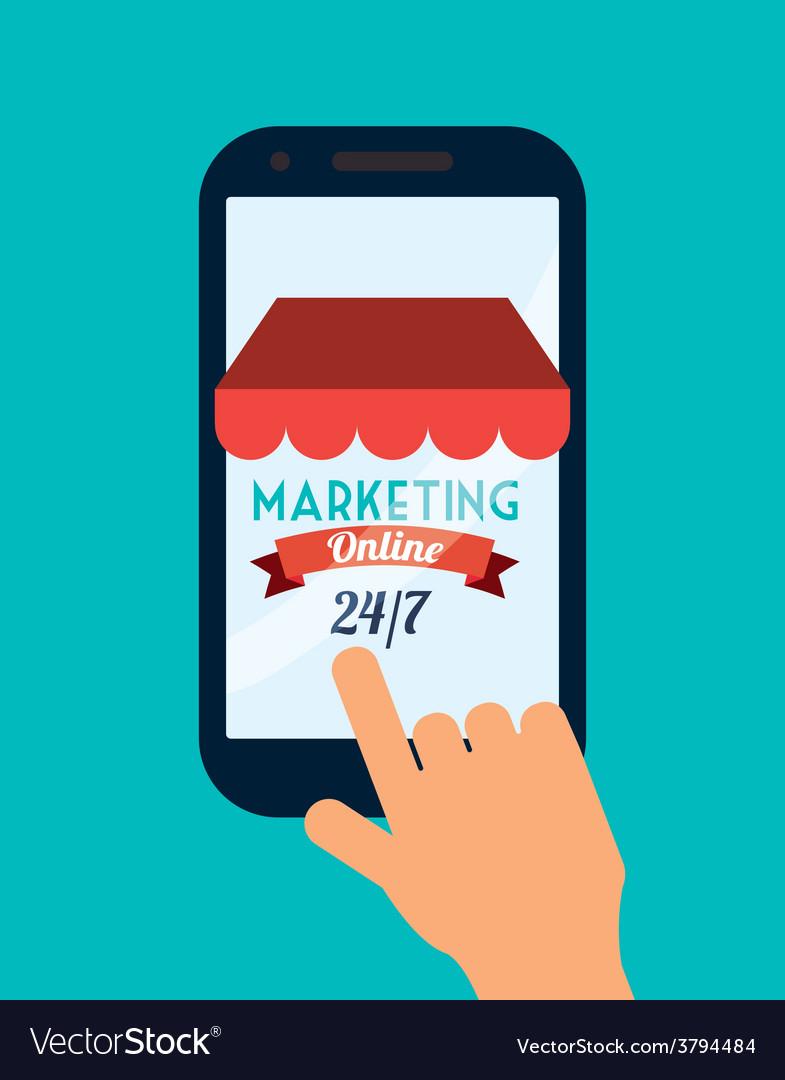 Marketing online vector | Price: 1 Credit (USD $1)