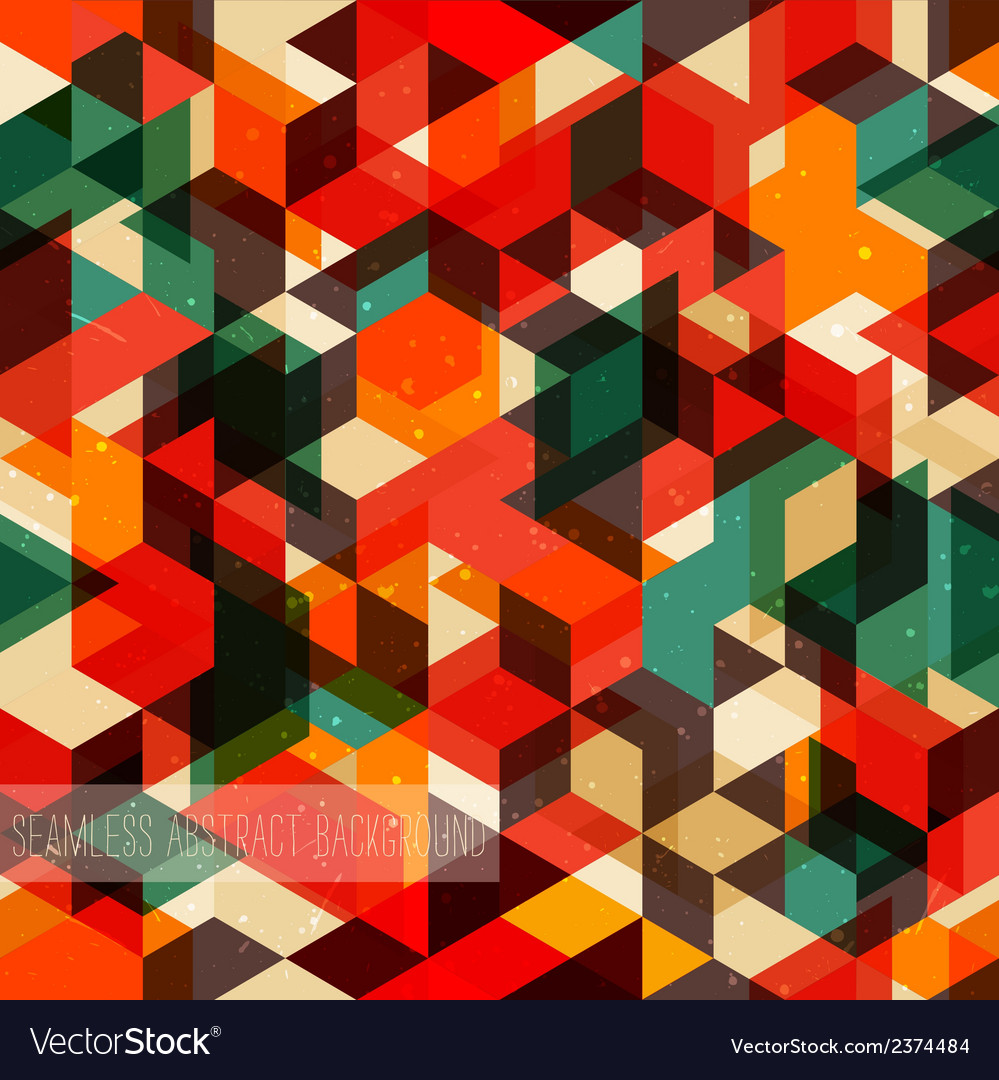 Retro abstract pattern seamless background vector | Price: 1 Credit (USD $1)