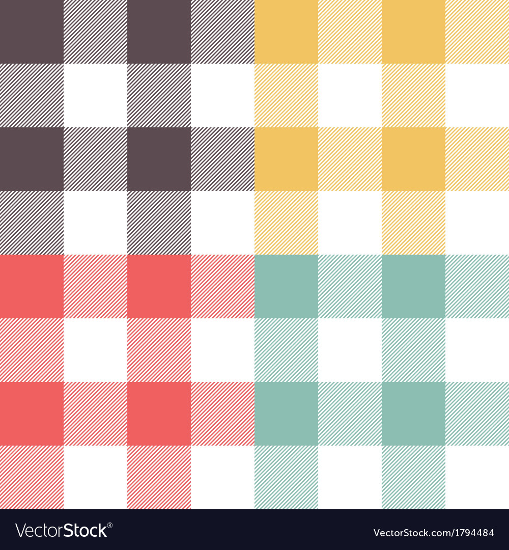 Set of four colored patterns vector | Price: 1 Credit (USD $1)