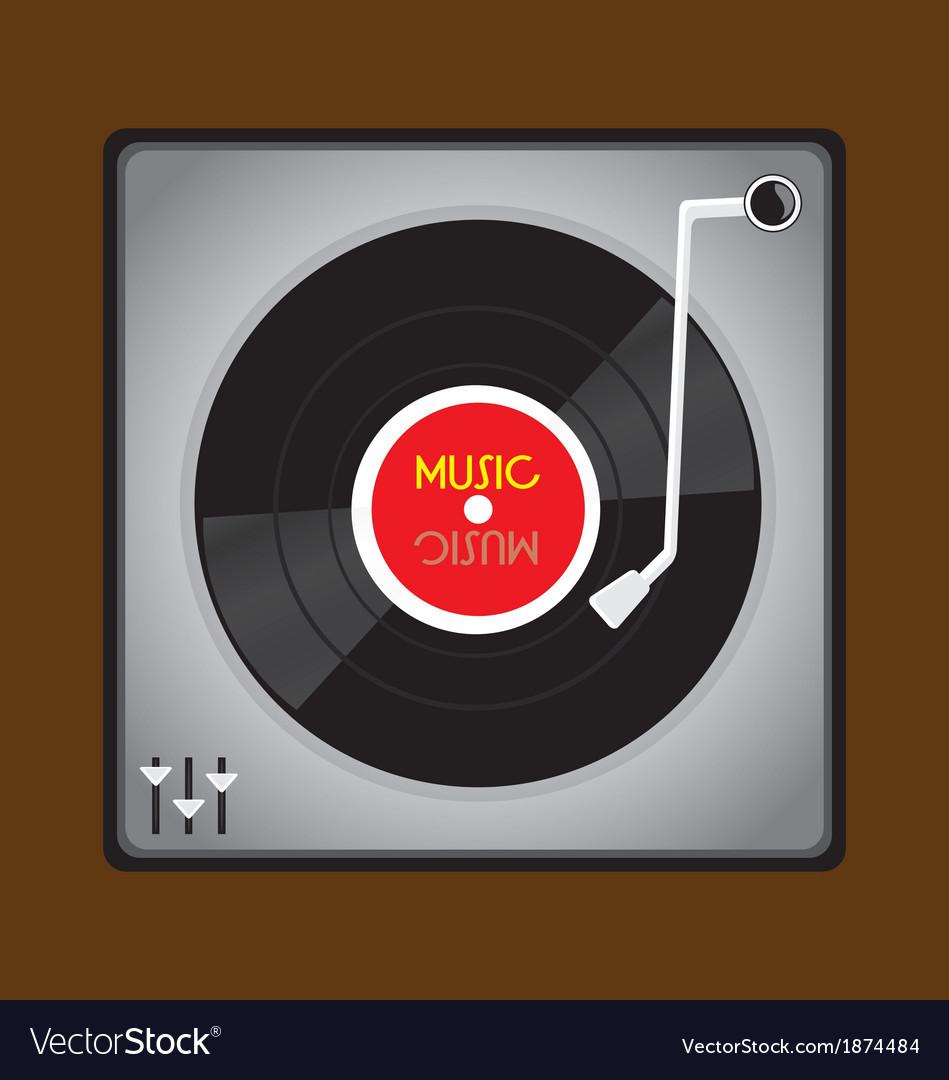 Vinyl record player vector | Price: 1 Credit (USD $1)