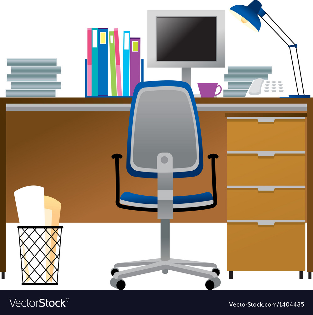 A view of desk vector | Price: 1 Credit (USD $1)