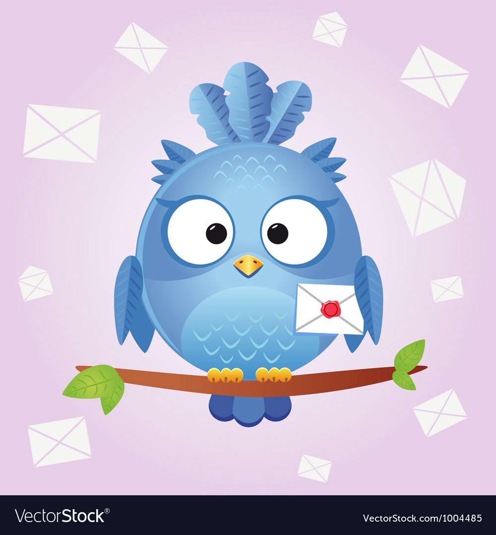 Bird letter vector | Price: 3 Credit (USD $3)