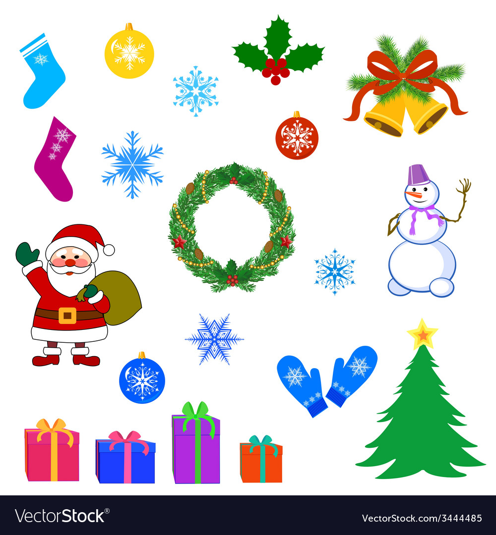 Christmas set vector | Price: 1 Credit (USD $1)