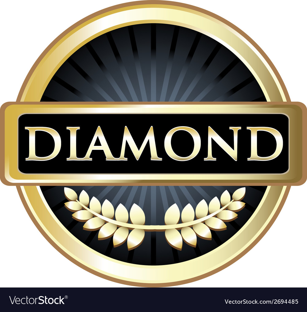 Diamond black label vector | Price: 1 Credit (USD $1)
