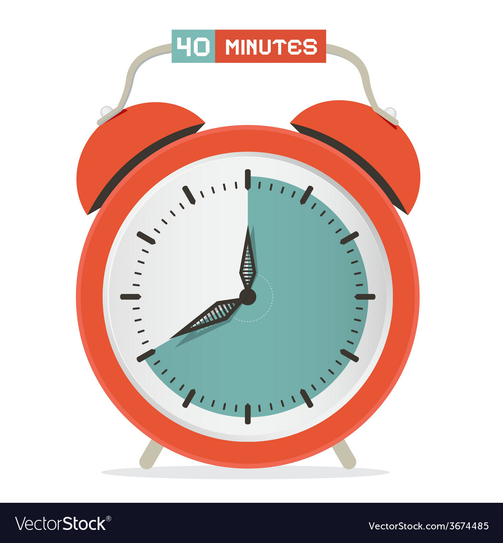 Forty minutes stop watch - alarm clock vector | Price: 1 Credit (USD $1)