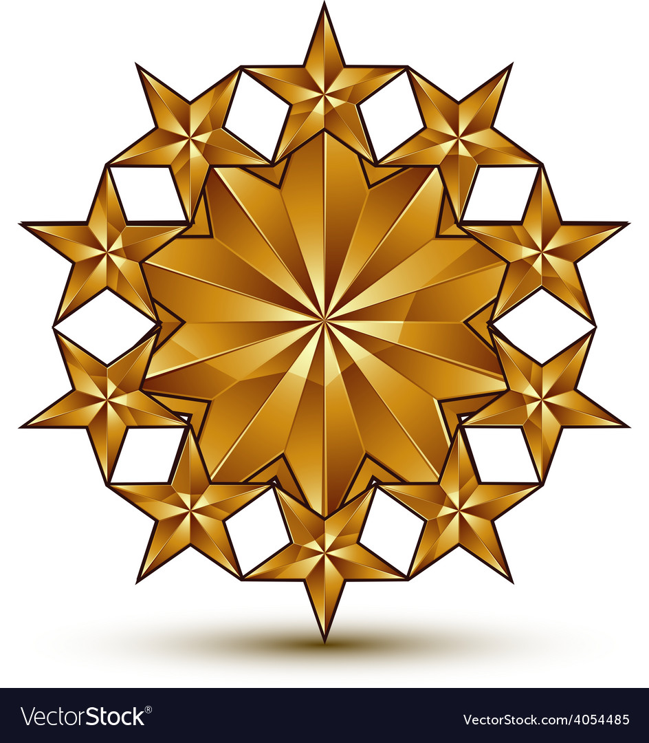 Geometric classic rounded golden element isolated vector | Price: 1 Credit (USD $1)