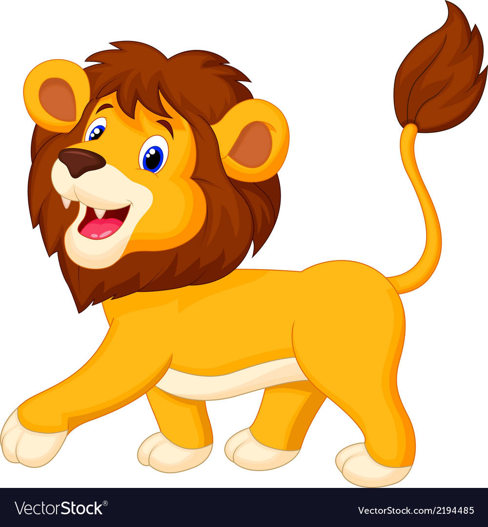 Lion cartoon walking vector | Price: 1 Credit (USD $1)