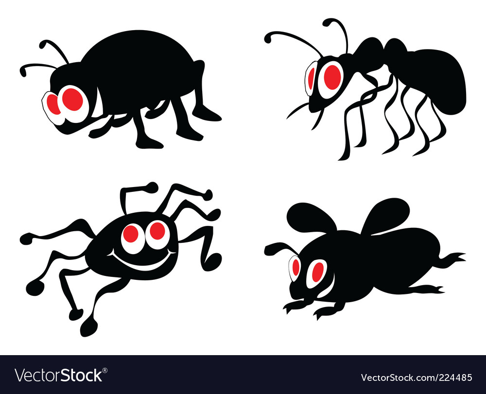Ridiculous insects vector