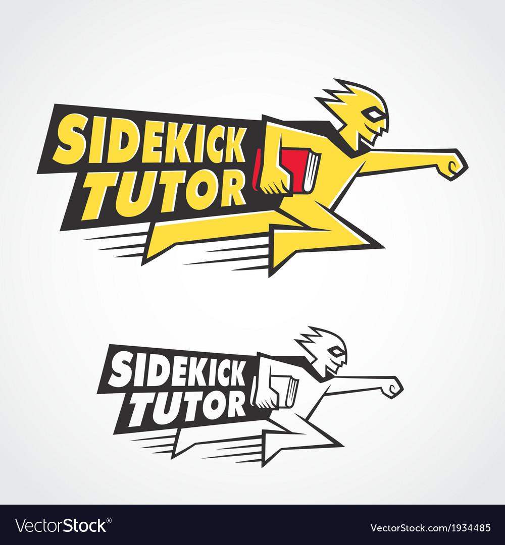 Sidekick tutor symbol vector | Price: 1 Credit (USD $1)